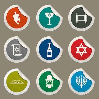 Chanukka-symbole für websites und benutzeroberfläche