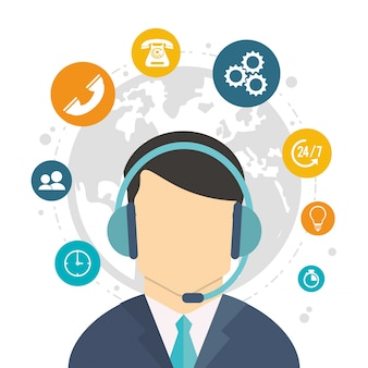 Character call center weltdienst