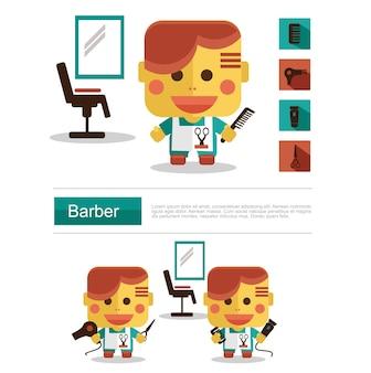 Character design barber karriere