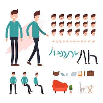 Charakter der geschäftsleute für animationsszene.
