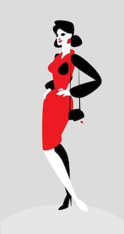 Charakter einer modischen dame.
