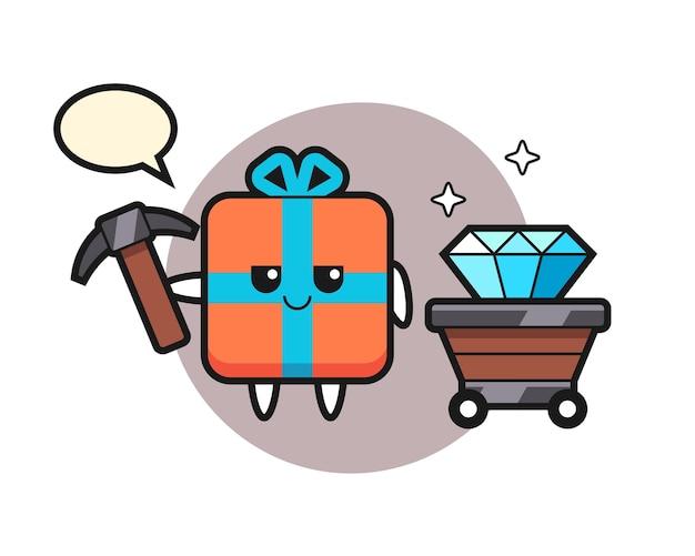 Charakter geschenkbox als bergmann