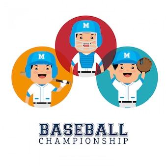 Charakter spieler baseball meisterschaft