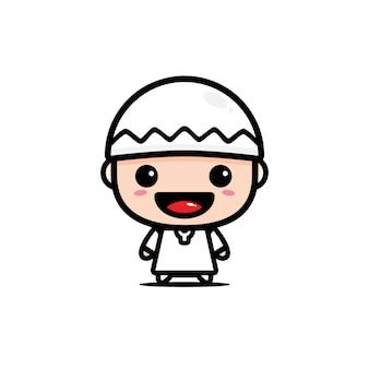 Charakter von niedlichen muslimischen charakteren
