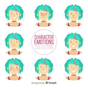 Charakter zeigt emotionen