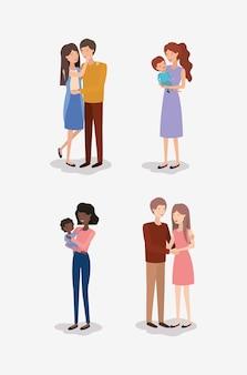 Charaktere für familienmitglieder