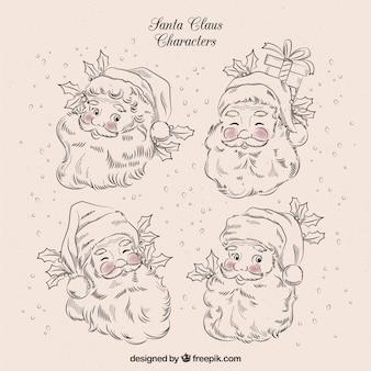 Charaktere skizzen von weihnachtsmann