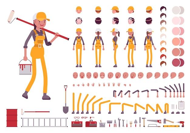 Charaktererstellungssatz für arbeitnehmerinnen