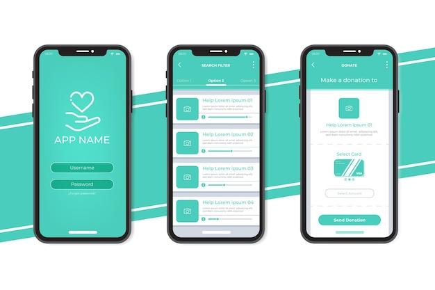 Charity app konzept