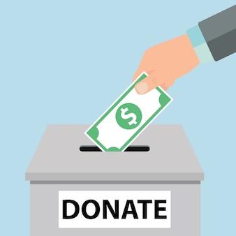 Charity-icon-konzept