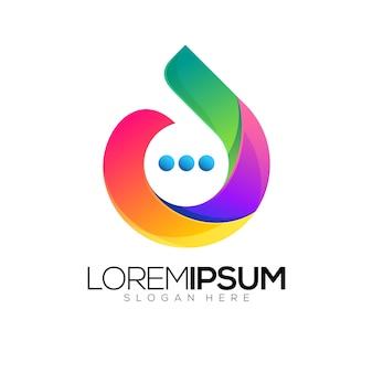 Chat abstrakte logo abbildung