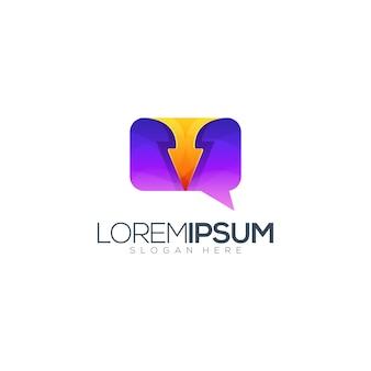 Chat anweisungen logo design