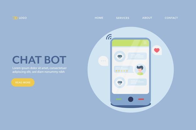 Chat-bot-konzept