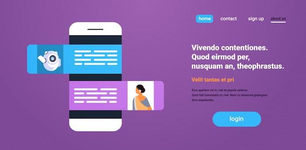 Chat bot roboter kommunikation dialog banner