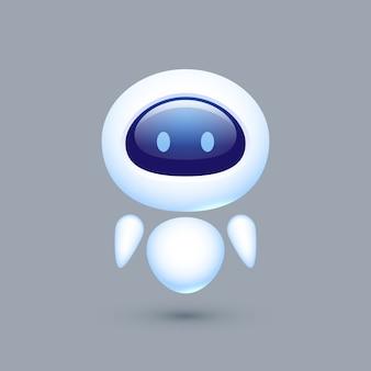 Chat bot. roboter mit emotionen. konzept für den kundenservice.