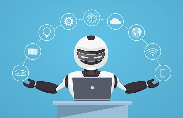 Chat-bot, virtuelle roboterunterstützung.