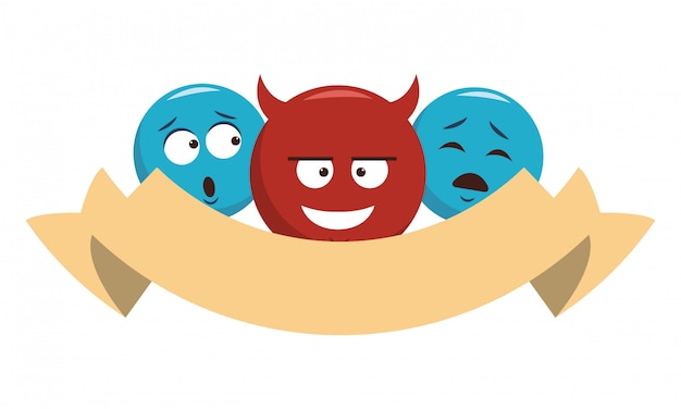 Chat emoticons mit bandfahne