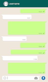 Chat-fenster für soziale netzwerke.
