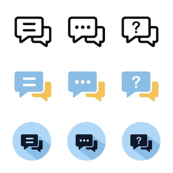 Chat-icon-set