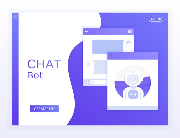Chat-interface-anwendung mit dialogfenster.