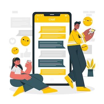 Chat-konzeptillustration