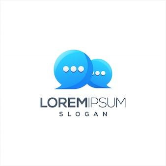Chat-logo-design einsatzbereit