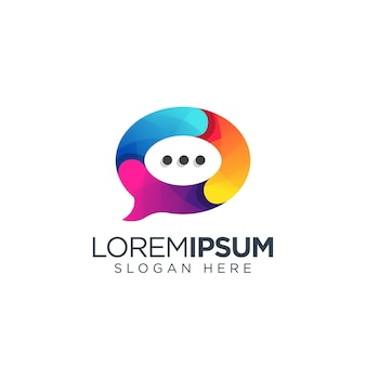 Chat-logo-design-vektor