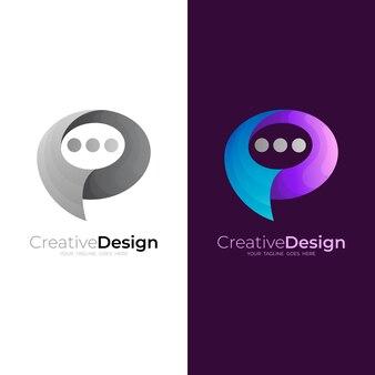 Chat-logo mit buntem design