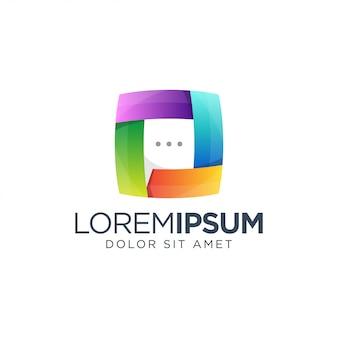 Chat-logo-vorlage