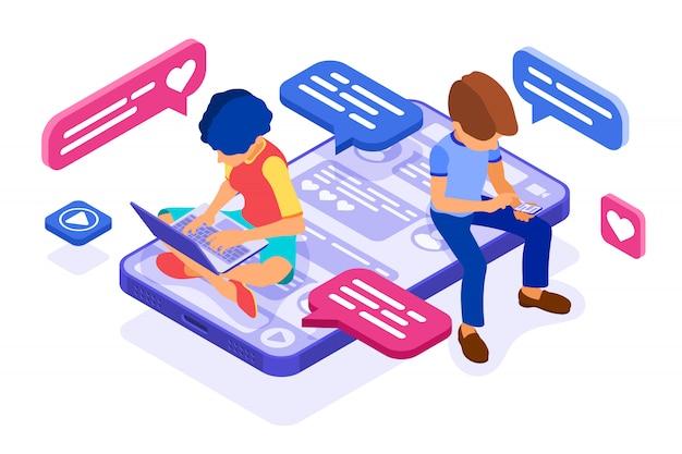 Chat online-dating-freundschaft in sozialen netzwerken