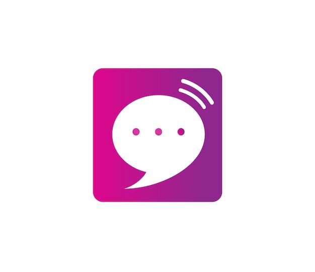 Chat-symbol vektor