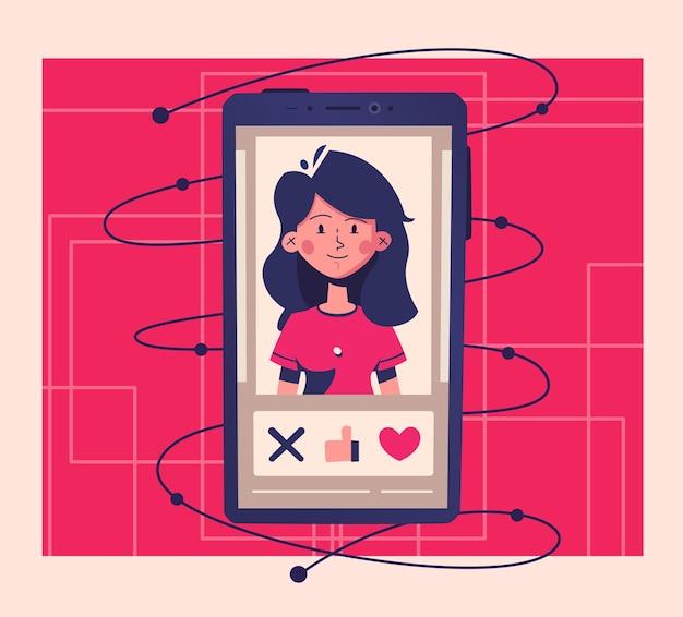 Chat und datum des dating-anwendungskonzepts