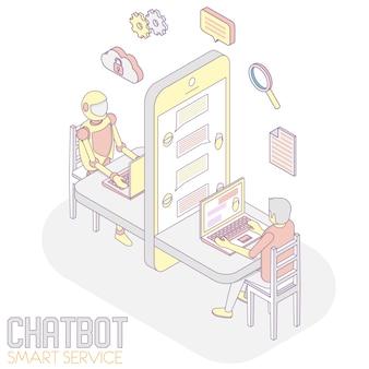 Chatbot app isometrisch