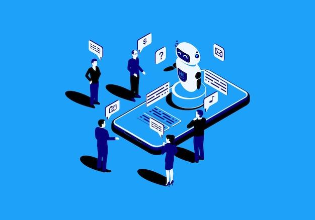 Chatbot flach isometrisch