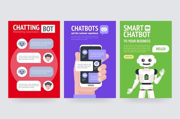 Chatbot geschäftskonzept illustration