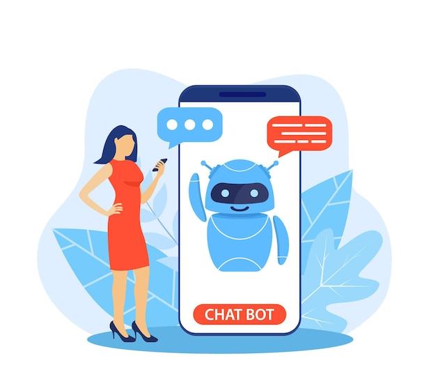 Chatbot-ki und kundenservice-konzept.