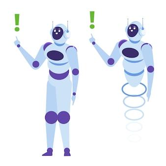 Chatbot-konzept. kundendienst android, künstliche intelligenz dialog.