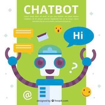 Chatbot-konzepthintergrund mit roboter