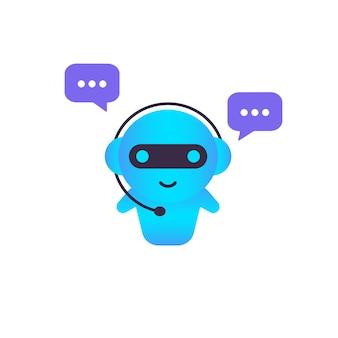 Chatbot-symbol. vorlage für die zielseite des online-assistenten-bots. dialog, nachricht. technischer support. für webseite. vektor auf weißem hintergrund isoliert. eps 10.