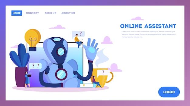 Chatbot unterstützt kunden und hilft ihnen bei problemen