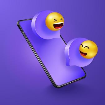 Chatten am telefon. social media kommunikation