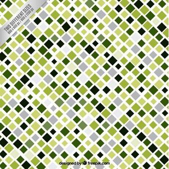 Checked background in grüntönen