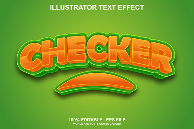 Checker-texteffekt editierbar