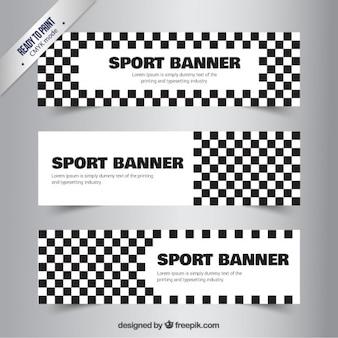 Checkered sport banner