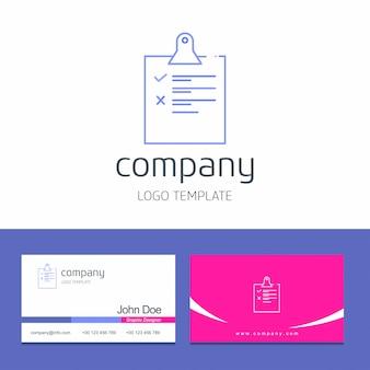 Checkliste logo und karte