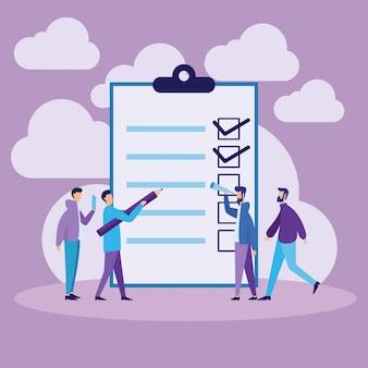 Checkliste und listen-konzept zu tun