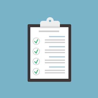 Checkliste zwischenablage
