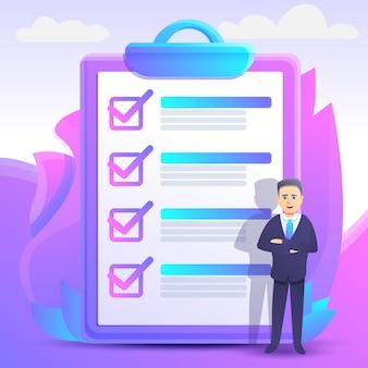 Checklisten-konzeptillustrations-karikaturart