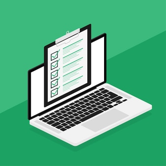 Checklisten-tablet auf weiß