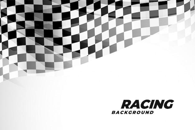 Checkred flad hintergrund für sport und rennen